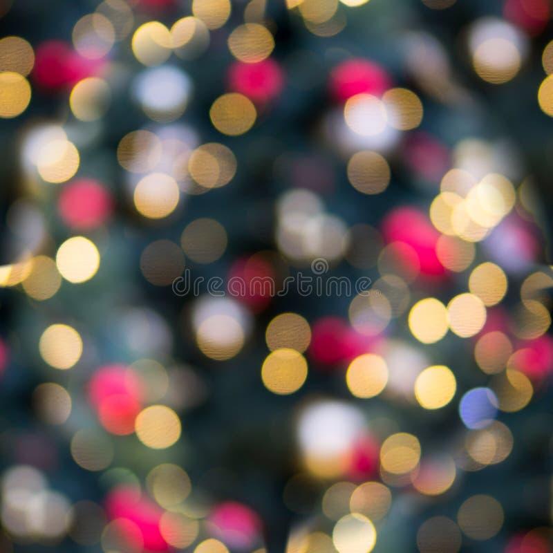 Bezszwowy bokeh boże narodzenie kolorów tekstura Tło fotografia royalty free