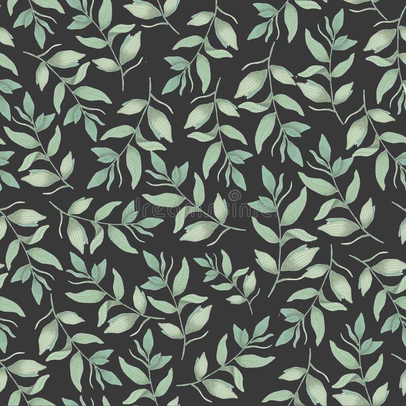 Bezszwowy botaniczny wzór, tło dla tkanin, tkaniny, papier, tapeta fotografia stock