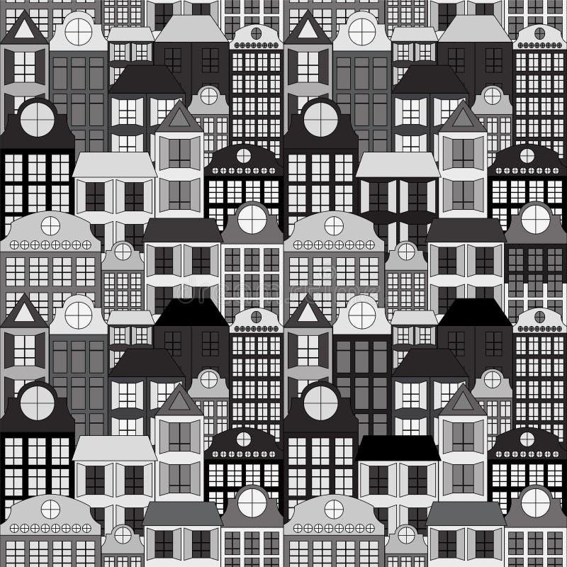 Download Bezszwowy Budynku Tło Zapas Ilustracji - Ilustracja złożonej z nieruchomości, ornament: 53790323