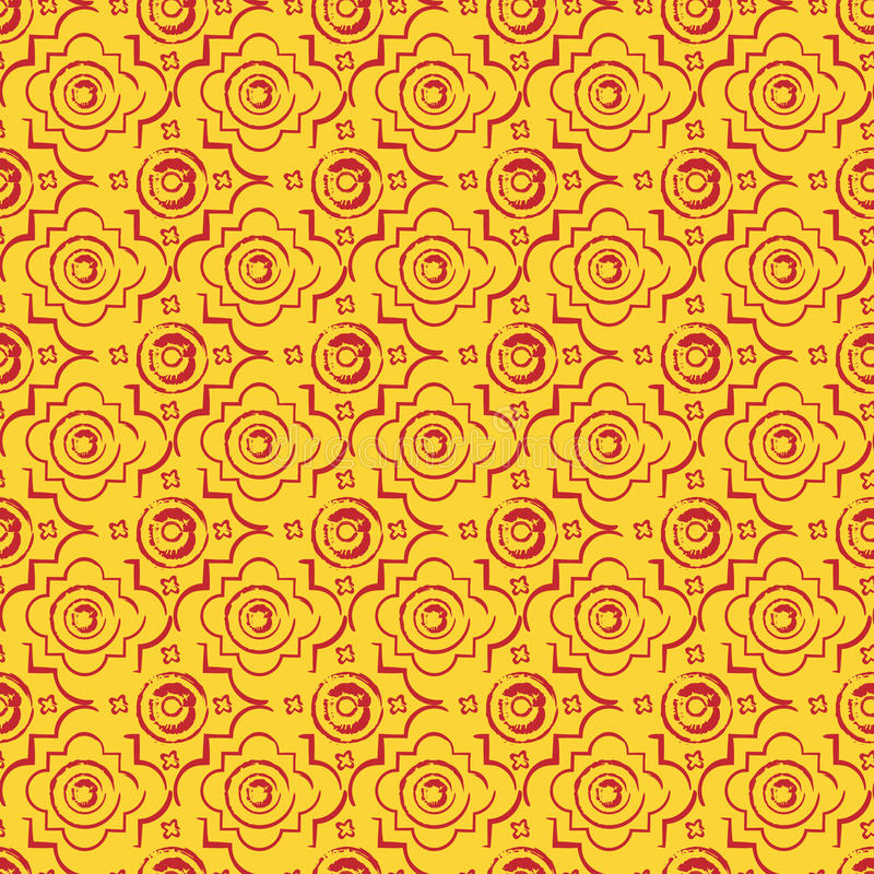 Bezszwowy byzantine stylu tło ilustracja wektor