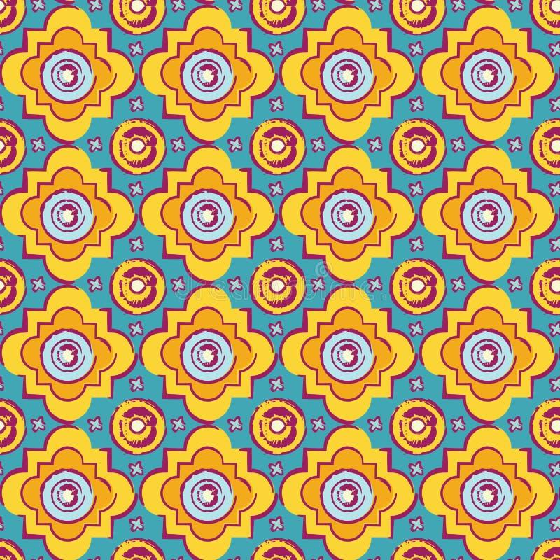 Bezszwowy byzantine stylu tło ilustracji