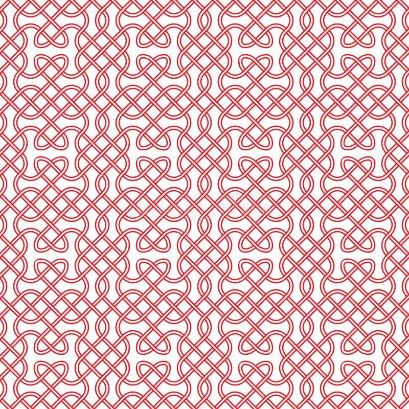 Bezszwowy celta lub scandinavian wzór ilustracja wektor