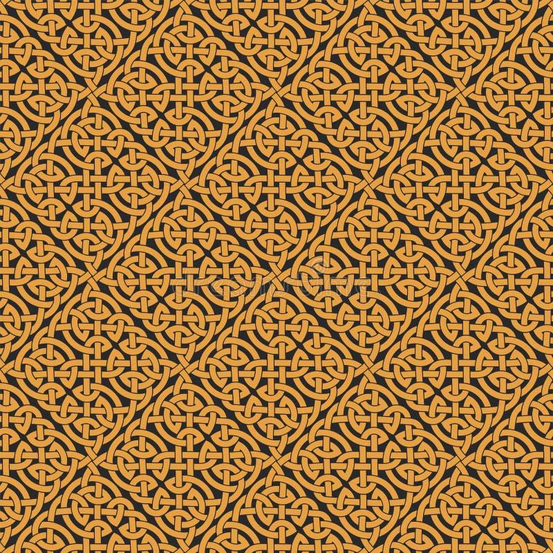 Bezszwowy Celtycki kępki nieskończoności wzór royalty ilustracja