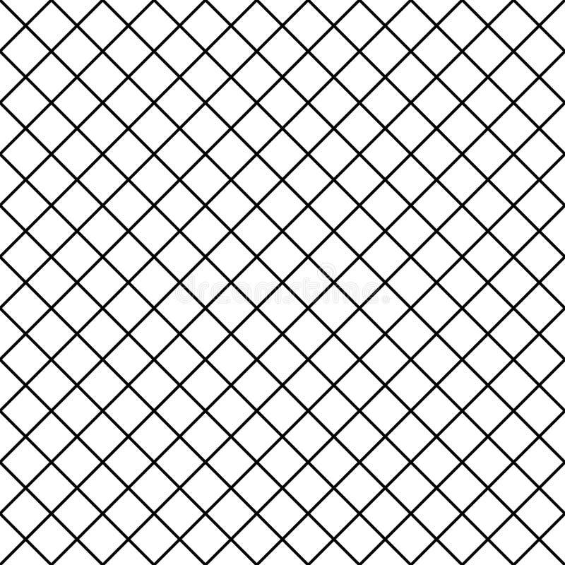 Bezszwowy chequered tło Diagonalny rhombus wzór geometryczna bezszwowa tekstura ilustracji