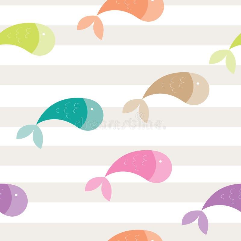 Dziecko ryba royalty ilustracja
