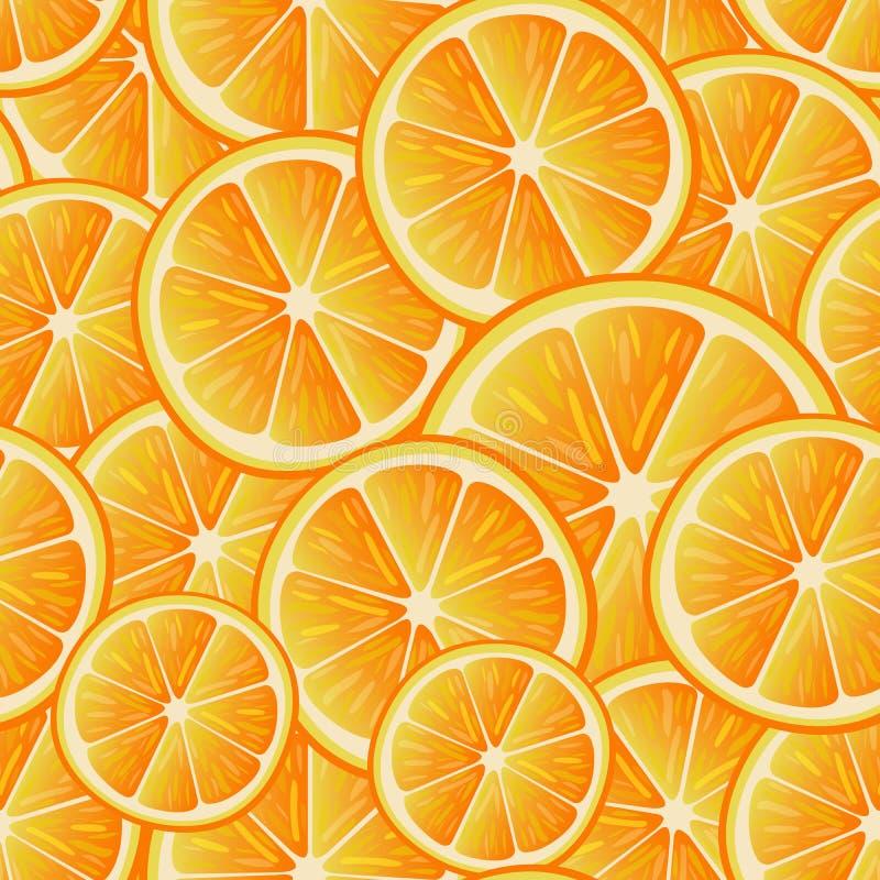 bezszwowy citrus wzoru Bezszwowy wzór pomarańcze plasterki Owocowa kolekcja ilustracja wektor