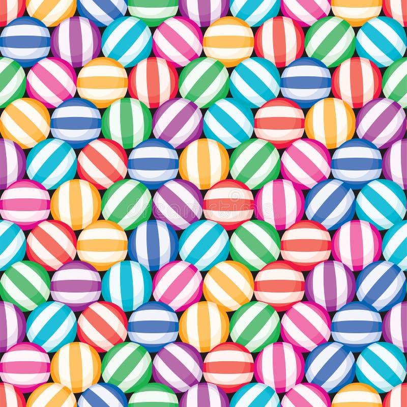 Bezszwowy cukierku tła wzór ilustracja wektor