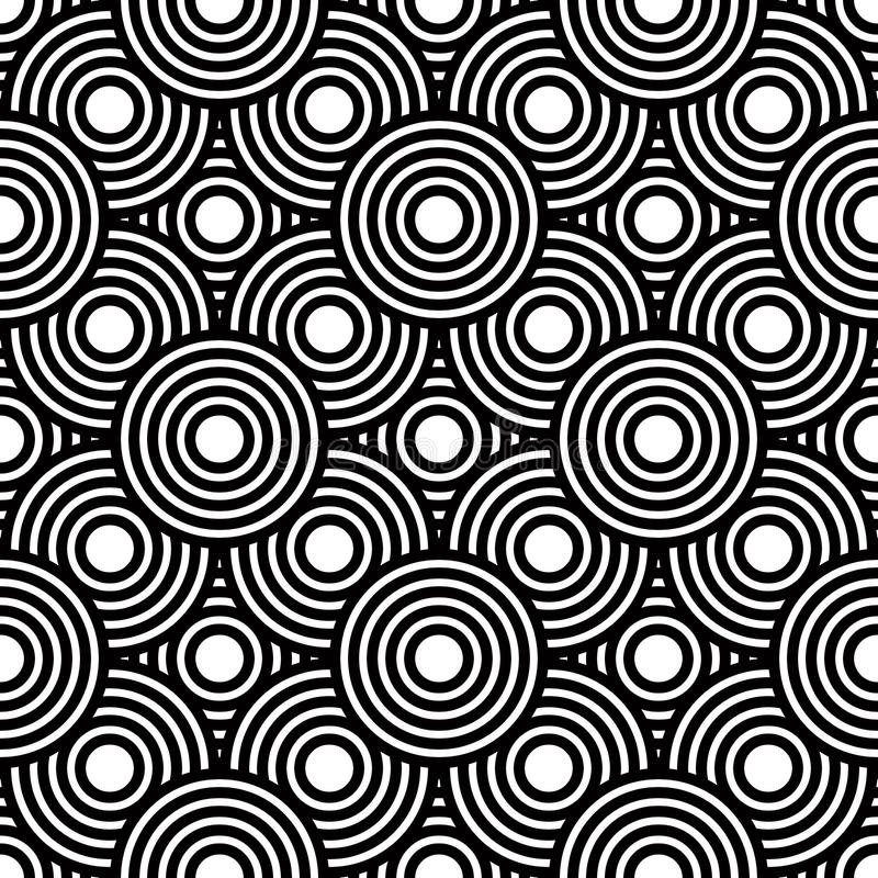 Bezszwowy czarny i biały geometryczny wektorowy tło, prosty str ilustracja wektor
