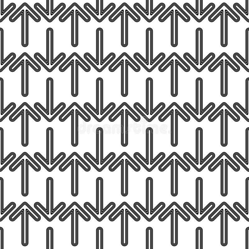 Bezszwowy czarny i biały strzała wzór ilustracji