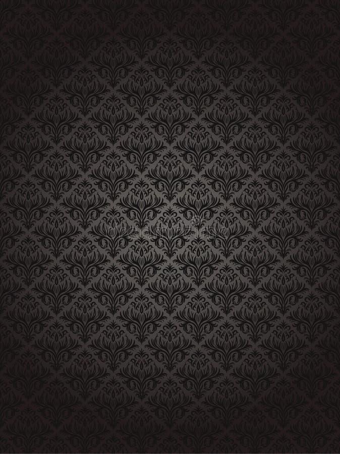 Bezszwowy czerń wzór ilustracja wektor