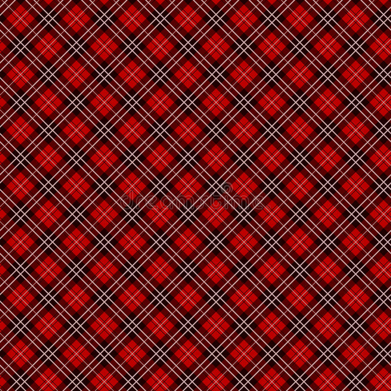 Bezszwowy czerwony w kratkę tkanina wektoru wzór, tło/ zdjęcia royalty free