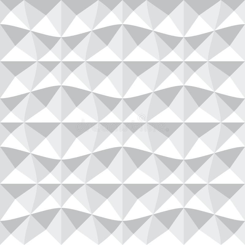Bezszwowy 3d geometryczny wzór royalty ilustracja