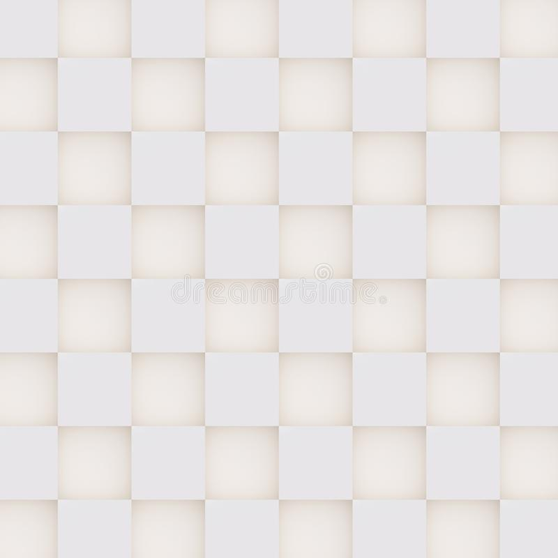 Bezszwowy 3D wzór biali i beżowi geometryczni kształty royalty ilustracja