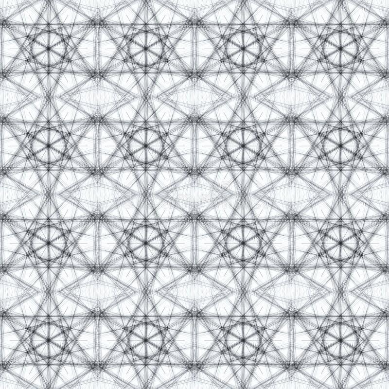 Bezszwowy dekoracyjny tło z pająk siecią ilustracji