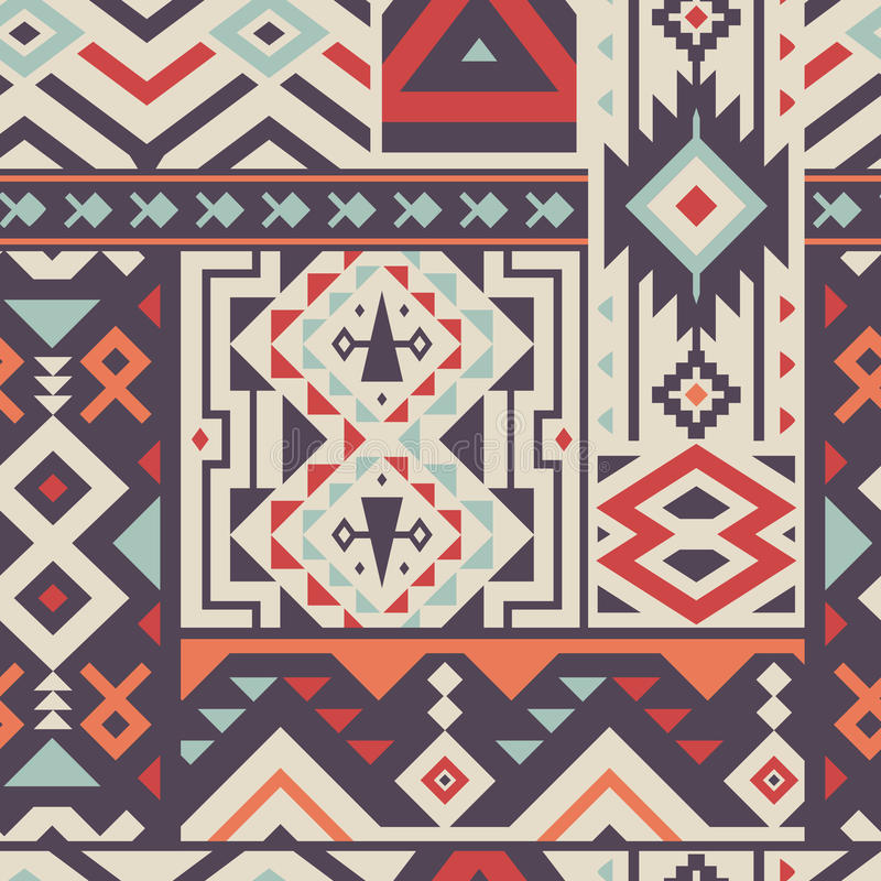 Bezszwowy Dekoracyjny wektoru wzór dla Tekstylnego projekta royalty ilustracja