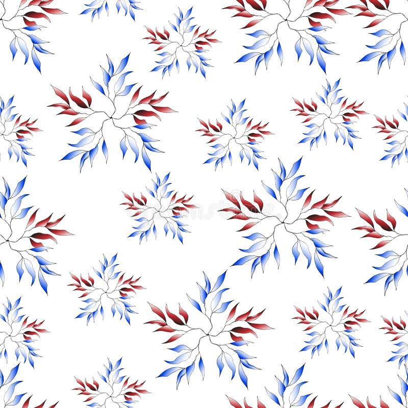 Bezszwowy delikatny czerwieni i błękita tło ilustracja wektor