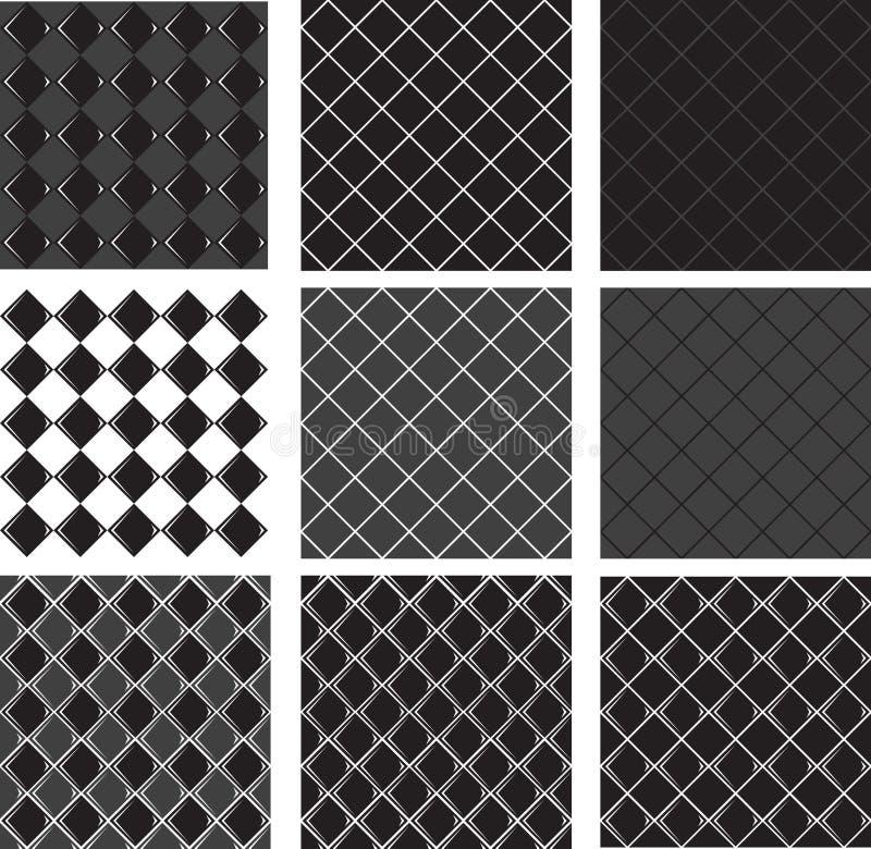 Bezszwowy deseniowy czarny diament ilustracja wektor