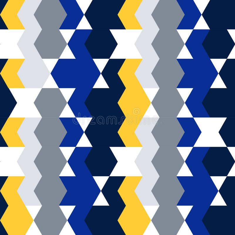 Bezszwowy deseniowy druk, Geo modnisia etnicznego tła nowożytny modny Geometryczny abstrakcjonistyczny tło dla miejsca, blog, tka royalty ilustracja