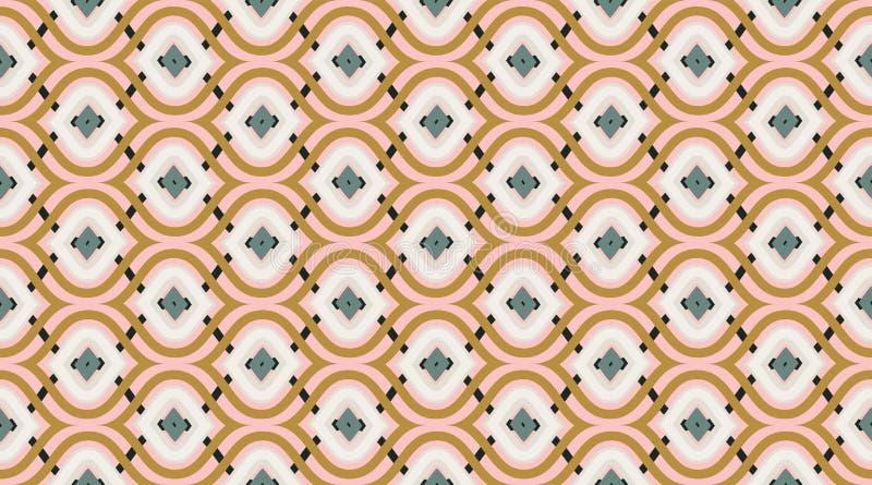 Bezszwowy deseniowy geometryczny Delikatny piękny ornament Geometryczny mody tkaniny druk nSeamless wektoru wzór royalty ilustracja