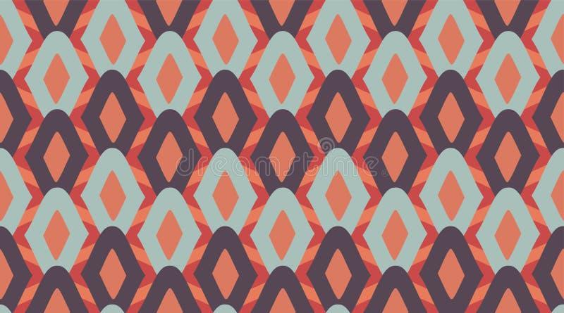 Bezszwowy deseniowy geometryczny Delikatny pi?kny ornament Geometryczny mody tkaniny druk nSeamless wektoru wz?r ilustracji