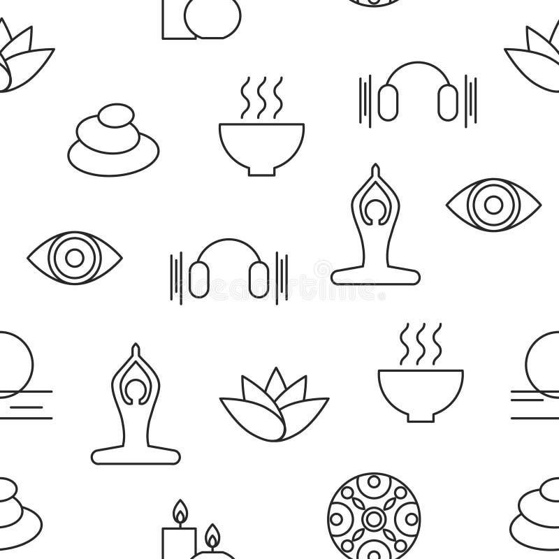 Bezszwowy deseniowy joga royalty ilustracja