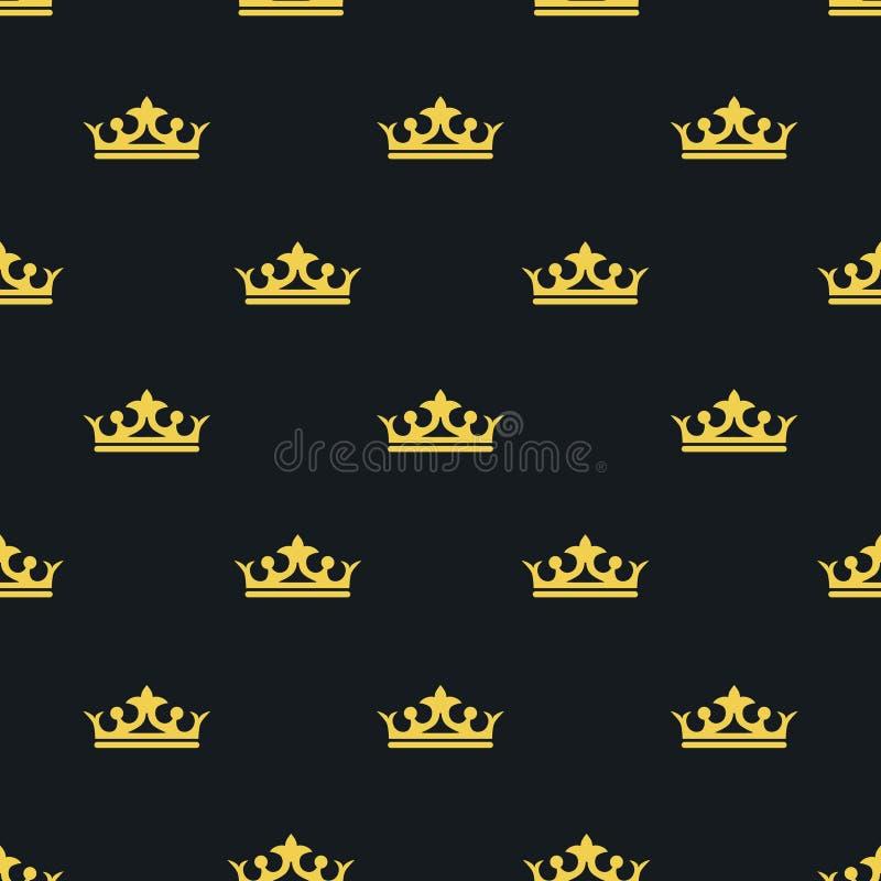 Bezszwowy deseniowy Laksheri styl korona wektor ilustracja wektor