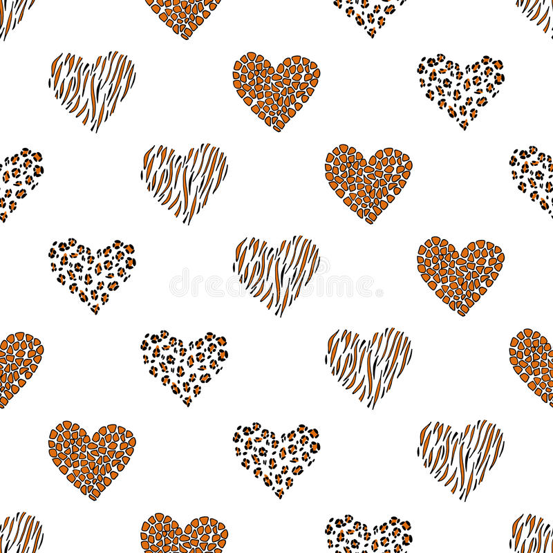 Bezszwowy deseniowy tła serce wektor royalty ilustracja