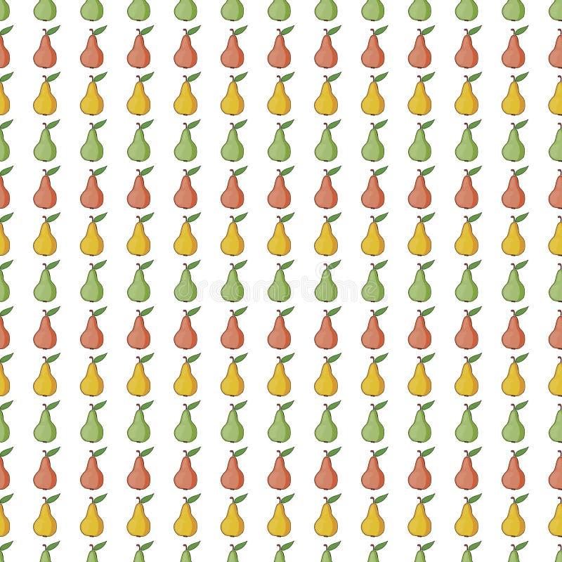 Bezszwowy deseniowy tło z czerwienią, kolor żółty, zielone bonkrety ilustracja wektor