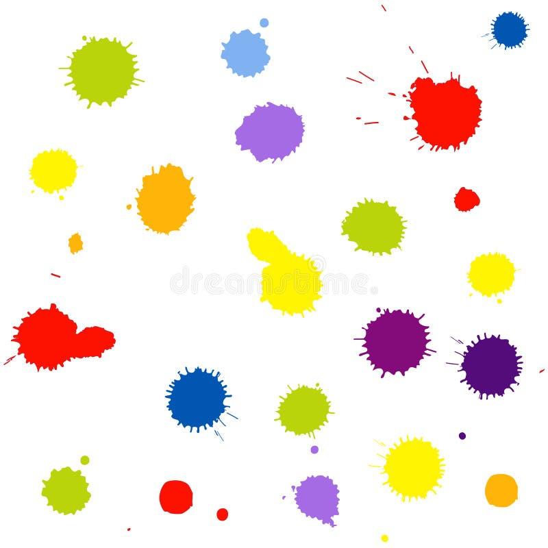 Bezszwowy deseniowy tło z kleksami ilustracji