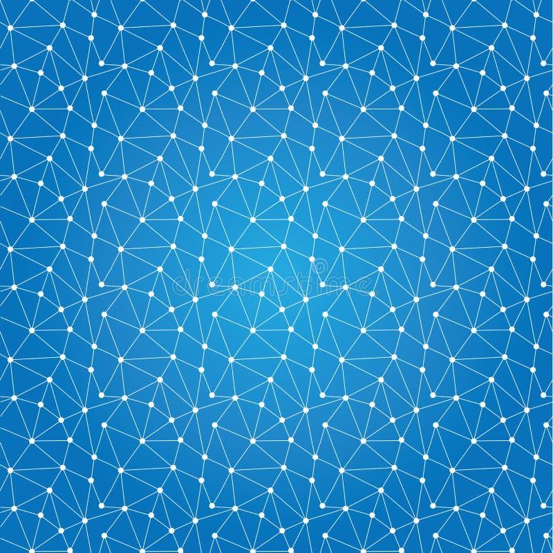 Bezszwowy deseniowy technologii tło dla strony internetowej od białego p royalty ilustracja