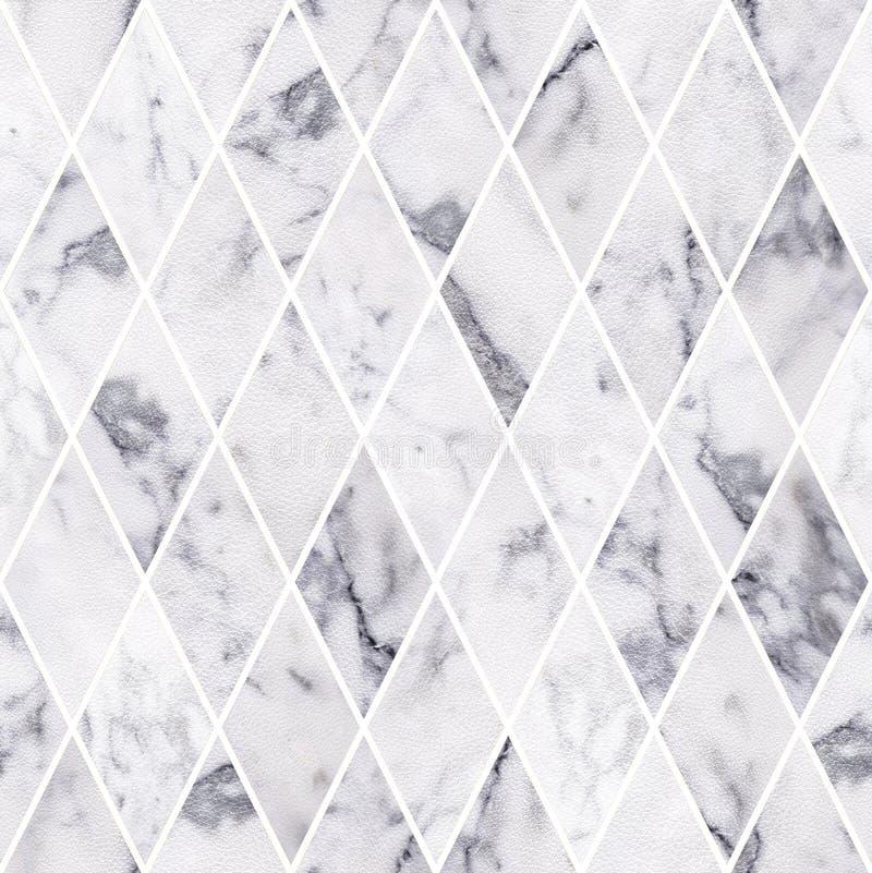 Bezszwowy deseniowy tekstury tło, Abstrakcjonistyczna biała skóra z marmuru kamienia tekstury tłem Luksus deseniowa tekstura obraz royalty free