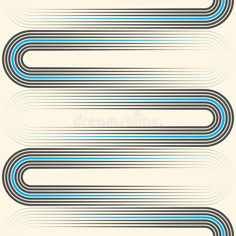 Bezszwowy DNA tło Minimalny Wyginający się linia wzór ilustracji