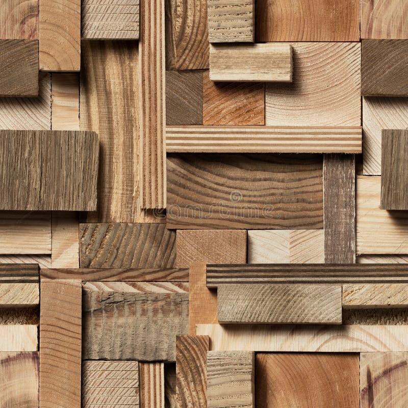 Bezszwowy drewnianego bloku tło obrazy royalty free
