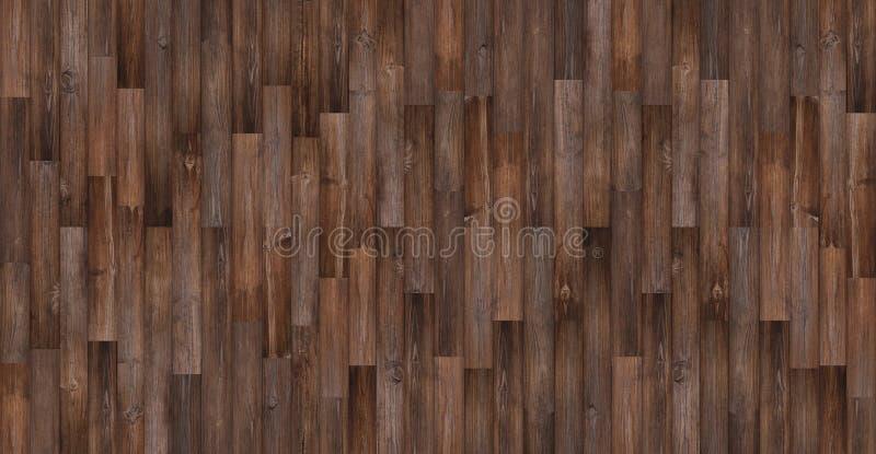 Bezszwowy drewniany tekstury tło, Panoramiczna ciemna drewniana podłogowa tekstura zdjęcie royalty free