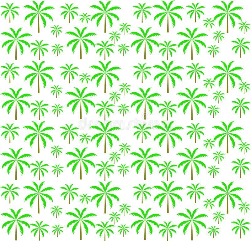 Bezszwowy drzewko palmowe wzór. Wektorowa ilustracja. ilustracji