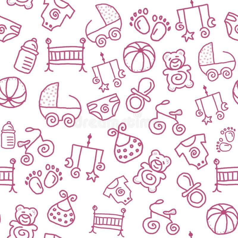 Bezszwowy dziecięcy wzór dla tapety lub jakaś tła royalty ilustracja