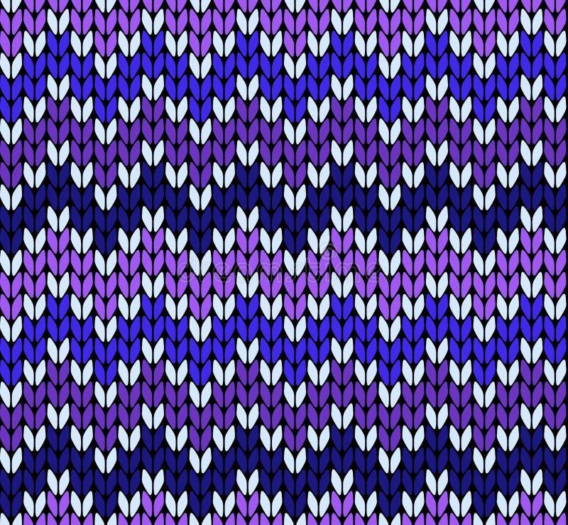 Bezszwowy dziewiarski zigzak wzór royalty ilustracja