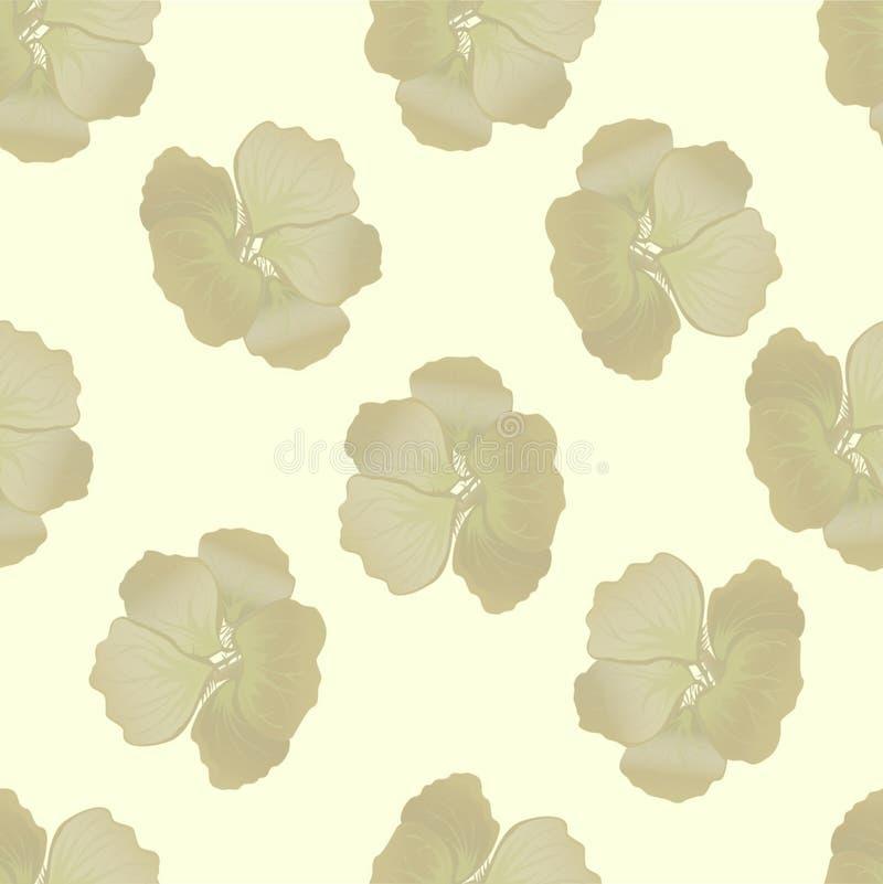 Bezszwowy dziki kwiecisty wz?r z nasturcj? t?o kwitnie po?lubnika botaniczni motywy rozpraszali przypadkowego Tekstura dla mody ilustracja wektor