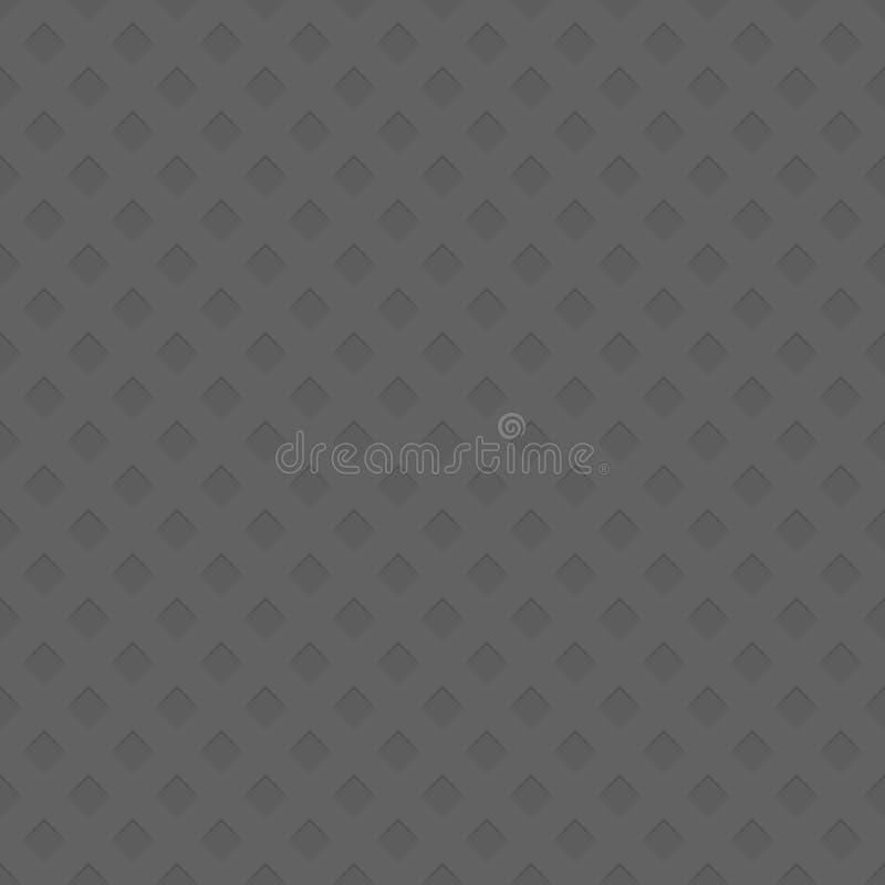Bezszwowy dziurkowaty przekątna kwadrata wzoru tekstury tło - przestrzenna abstrakcjonistyczna wektorowa ilustracja royalty ilustracja