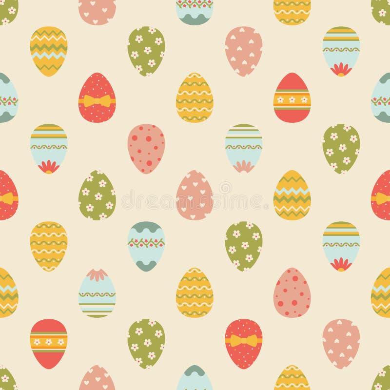Bezszwowy Easter wzór z jajkami. ilustracji