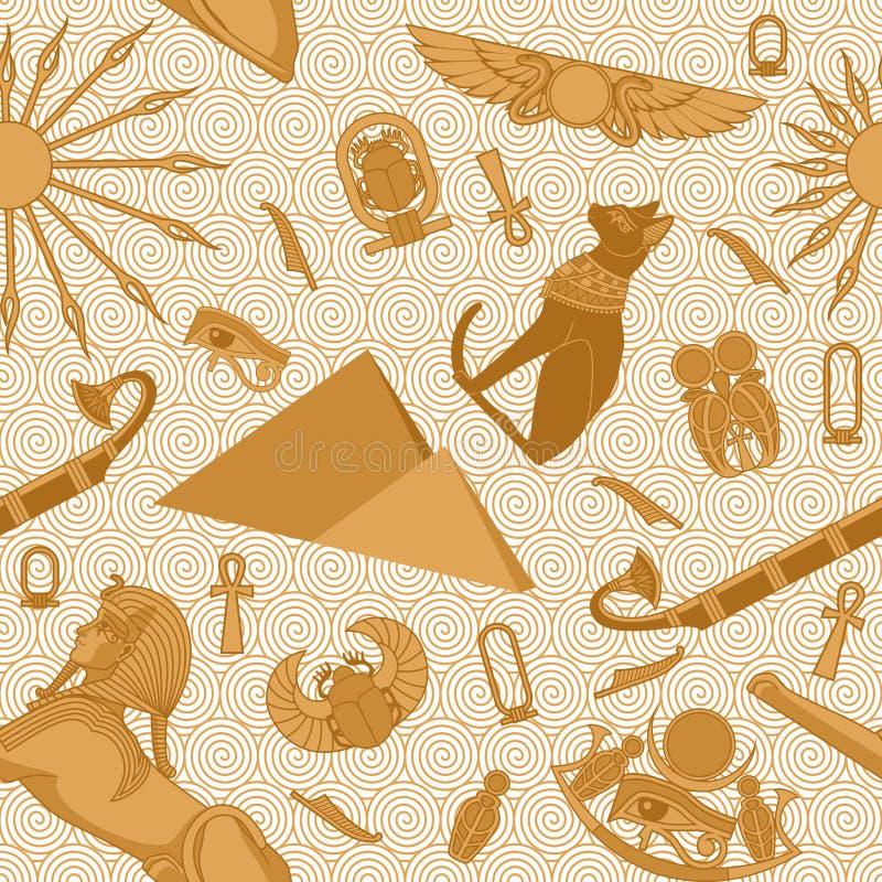 Bezszwowy Egipt wzór