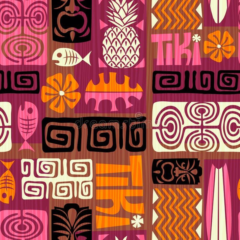 Bezszwowy Egzotyczny Tik wzór również zwrócić corel ilustracji wektora royalty ilustracja