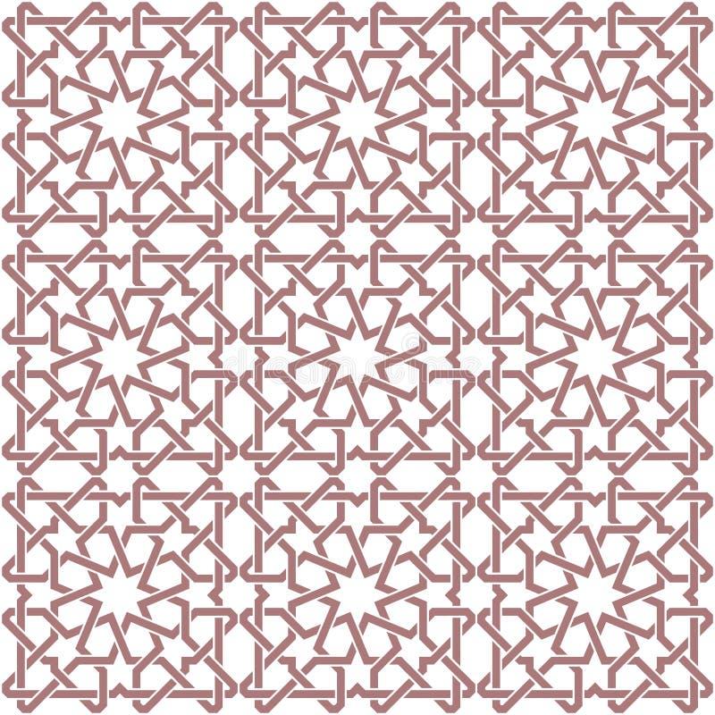 Bezszwowy elegancki arabski ornament ilustracji