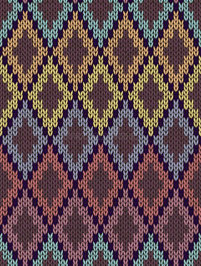 Bezszwowy Etniczny Geometryczny Trykotowy wzór royalty ilustracja