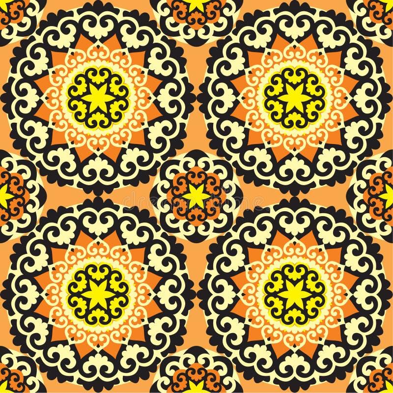 bezszwowy etniczny ornament ilustracji