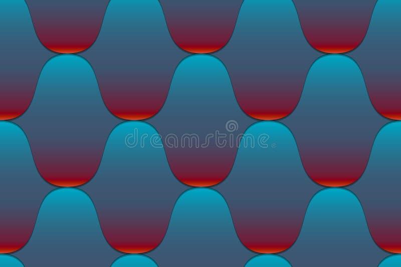 Bezszwowy falisty kafelkowy wzór ilustracji