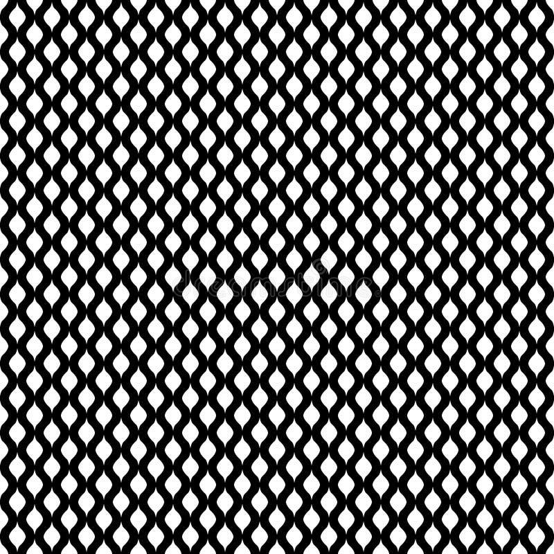 Bezszwowy falowy abstrakta wzoru tło ilustracja wektor
