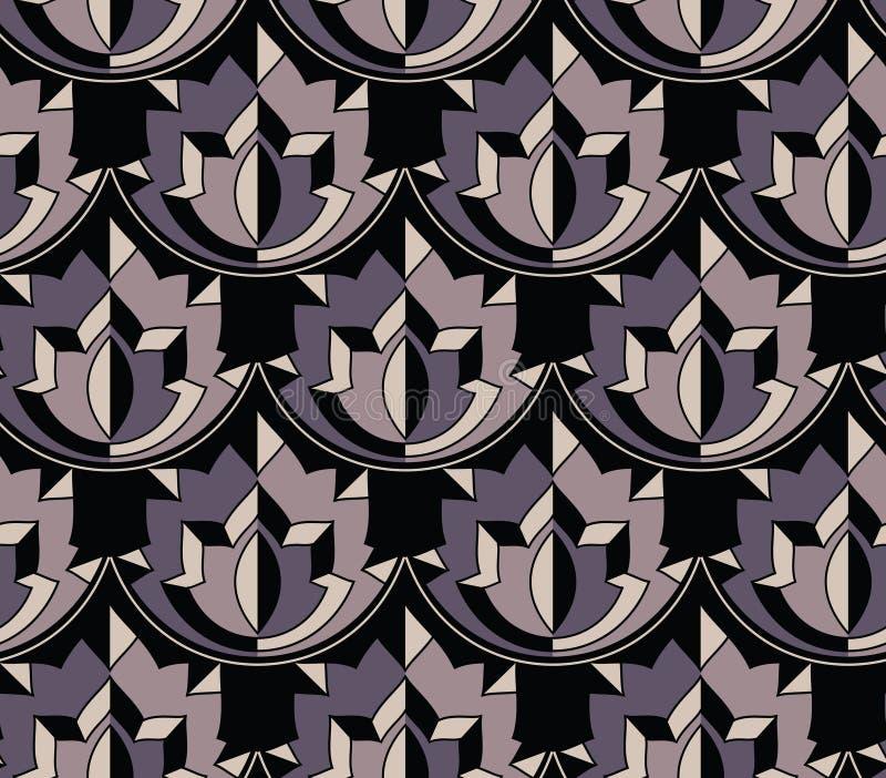 Bezszwowy geometrical wektoru wzór royalty ilustracja