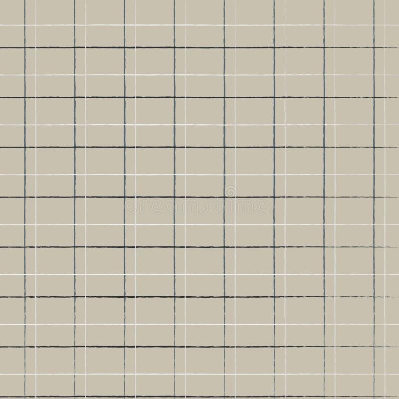 Bezszwowy geometryczny śliczny klatkowy wzór na burlap łasym Druk dla tkaniny, tkaniny produkcja, tapeta, pokrywy, powierzchnia,  royalty ilustracja