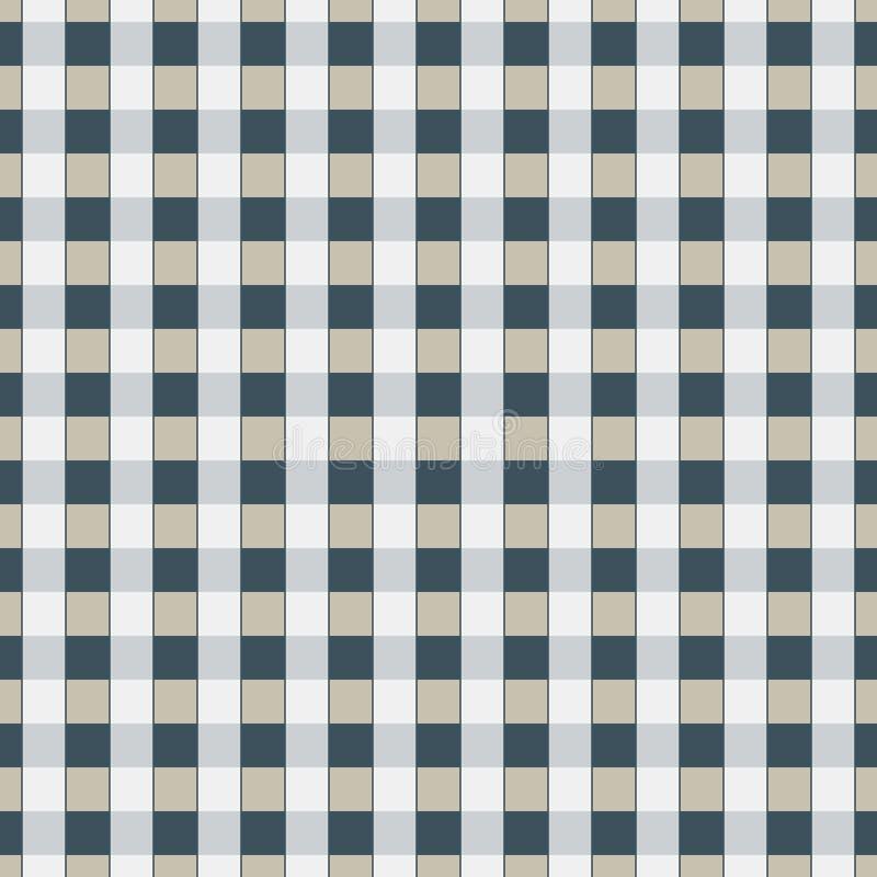 Bezszwowy geometryczny śliczny klatkowy wzór na burlap łasym Druk dla tkaniny, tkaniny produkcja, tapeta, pokrywy, powierzchnia,  ilustracji